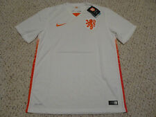 NWT Nike 2015 Netherlands Holland White Away Jersey (Men Size MEDIUM)