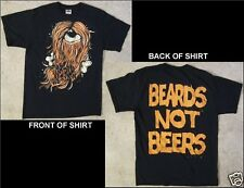 The World We Knew Beards Not Beers Size Medium Black T-Shirt