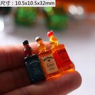 3Pcs 1/6 Scale Mini Simulation Whisky Bottle Dollhouse Decoration Accessories