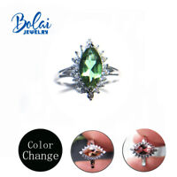 Color change created diaspore gemstone Ring 925 sterling silver fine jewelry