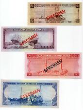 Bahrain 1964-1973 Complete Set of 7 Specimen Notes GEM UNC CSI PI-6 Fils/ Dinars