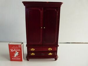 Doll's House Furniture Wardrobe with hangers