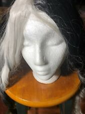 Long Hair Grey/black Wig New