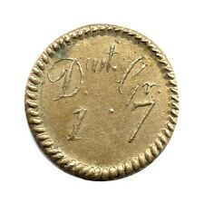 More details for brass coin weight - 1/4 guinea - dwt 1 grains 7 - george iii ???