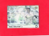 1992 Upper Deck MVP #36 PAUL MOLITOR Brewers Hall of Fame Hologram card