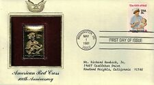 #1910 1981 18-cent Red Cross First Day Cover Golden Replica