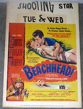 BEACHHEAD original 1954 movie poster TONY CURTIS/MARY MURPHY/FRANK LOVEJOY
