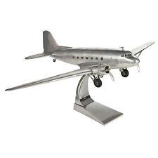 "Authentic AP455 Douglas DC-3 Dakota Aluminum Metal Desk Top Model 26"" Airplane"