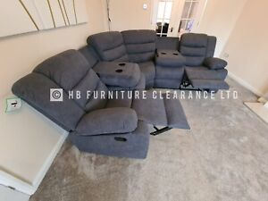 SORRENTO - FABRIC CINEMA RECLINING SOFA - GREY