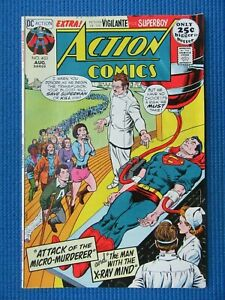 ACTION COMICS # 403 - (VG+) - SUPERMAN -ATTACK OF THE MICRO-MURDERER -X-RAY MIND
