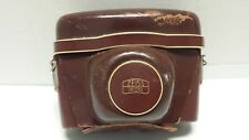 Zeiss Ikon Brown Leather Hard Camera Case With Strap