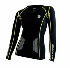 Fortis Women's Compression Top Long Sleeve Running Gym Training Shirt Brand New