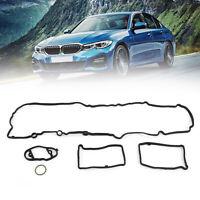 New Black Engine Valve Cover Gasket Set Cylinder For BMW 11127588418