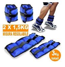 Coppia Pesi Caviglie Polsi Cavigliera Sport Arti Marziali Allenamento 3kg dfh