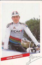 CYCLISME carte  cycliste HENRI MANDERS équipe PDM