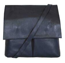Ladies Handbag Navy Italian Leather Vera Pelle Womens Cross Body Messenger Bag