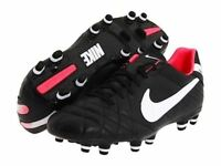 NIKE Tiempo Mystic IV FG Black Pink Leather Soccer Cleats NEW Womens Sz 5.5  6