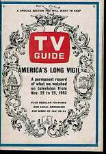 TV Guide Jan 1964 Kennedy Assassination Detailed Record of TV Coverage & Photos