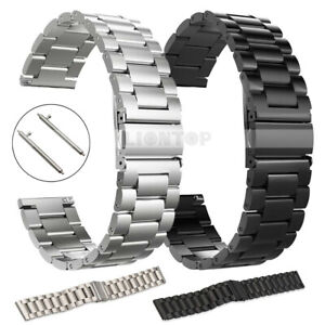 Universal Metal Quick Fit Stainless Steel Band Strap 20mm 22mm Smart Watch UK