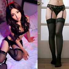 Sexy Women Lace Thigh-Highs Garter Belt Stockings Suspender Belt Sheer New.Pro