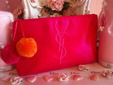 100%AUTHENTIC Exclusive YSL COUTURE Signature LOGO Beauty~Travel~SILK CASE BAG