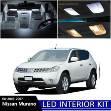 15PCS White LED Light Interior Package Kit for 2003 - 2007 Nissan Murano