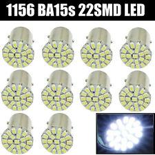 10x White 1156 BA15S 22 SMD LED Light bulbs Turn Signal Backup P21W 1073 7506