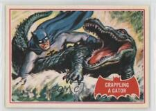 1989 Topps Batman Deluxe Reissue Edition Red Bat #2A Grappling a Gator Card 2u3