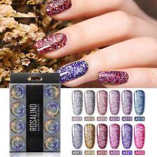 Nail Polish Manicure Rainbow Shiny Gel Glitter Acrylic Varnish 12pcs Set Tools
