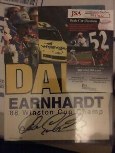 Dale Earnhardt Sr Signed 6x8 NASCAR Photo Autographed AUTO JSA COA