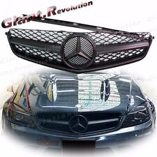 Fit 08-11 BENZ W204 C63AMG Sedan Matte Black 1 Fin Sporty Look Front Vent Grille