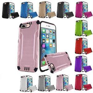 For Apple iPhone 8 / 7 / 6 Shockproof Hybrid Hard Brushed Phone Case Cover