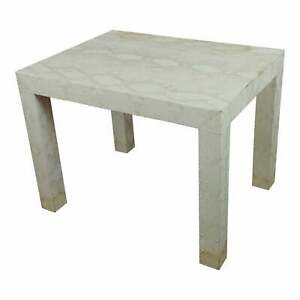 Edelman Leather - Side Table - bleached Snake Skin