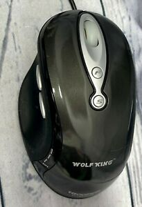 Wolf King Trooper USB Wired Optical Gaming Mouse - Black