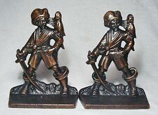 Pirate wit Parrot Cast Iron Bookends by Verona circa 1928/Mint Condition!
