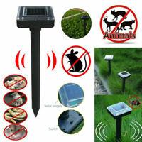 Solar Powered Garden Ultrasonic Rat Mice Cat Dog Repeller Deterrent Pest Control