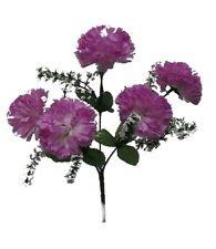5 Carnations Lavender Lilac Silk Wedding Bridal Bouquet Flowers Centerpieces