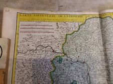 RARE Carte plan 1717/HONGRIE/TRANSILVANIE/SCLAVONIE/CROATIE..67x51