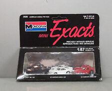 Monogram Mini Exacts #2020, 1:87 Scale 3 Plastic Cars - 57 Chevy, Mustang, Vett