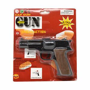 45 Magnum Shot Cap Gun Diecast Metal Replica Police Pistol Prop Shoots 8 Ring
