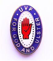 UVF ULSTER VOLUNTEER FORCE PIN BADGE - Loyalist 12th July Enamel Pin Badge