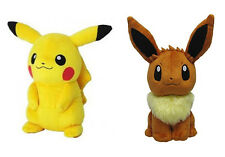 REAL anei Pokemon All Star [Set of 2] Stuffed Plush - PP07 Eevee & PP01 Pikachu
