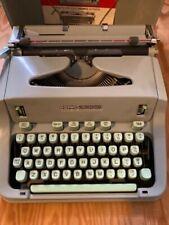 1966 Hermes 3000 Typewriter with Key, Case, Manual and Brush