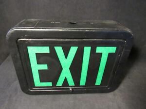 Vintage Perfeclite Green Black Exit Sign