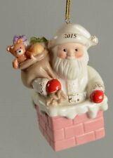 New Lenox 2015 Santa's Gift Express Annual Santa Christmas Ornament