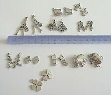 20 breloques métal charms breloque ELLE & LUI pendentif Lot pour création Bijoux