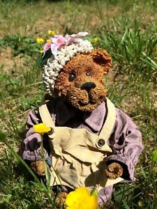 Antique Primitive Boyd's Bear Resin Doll Limited Edition #2061 Mrs Bailey Mohair