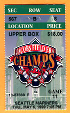 *TOUGH ROAD GAME! MARINERS KEN GRIFFEY JR. HR #360 TICKET STUB-5/6/99 @ INDIANS