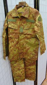 Genuine Italian Army Vegetato Camo Rip Stop 3-pc. combat uniform Sz L/XL,NOS cd.