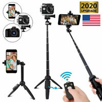 """40in Selfie Stick Tripod Phone 1/4"""" Camera Remote Holder Mount Stand For Gopro"""